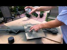 Kryptek AR15 Paint Job - http://fotar15.com/kryptek-ar15-paint-job/