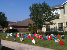 welcome home soldier | Big Yard Card: WELCOME HOME your SOLDIER with our new red, white ...