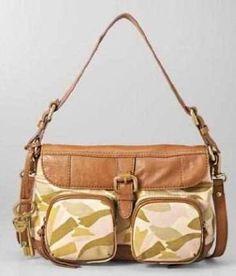 Fossil Shelby Flap Camo Handbag $129.00
