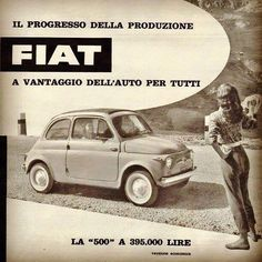 Fiat Cinquecento, Fiat Abarth, Vintage Italian Posters, Vintage Ads, Classic Motors, Classic Cars, Fiat 500 S, Fiat Uno, Good Looking Cars