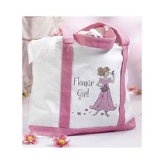 $13.50  Wedding Flower Girl Gifts Large Canvas Tote Bag for Flower Girl