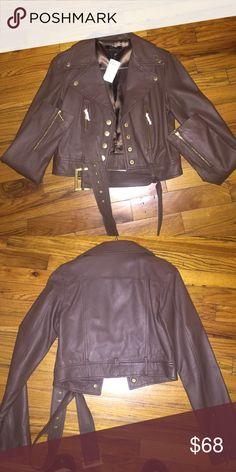 Arden b brown leather jacket Arden b brown leather motorcycle jacket Arden B Jackets & Coats