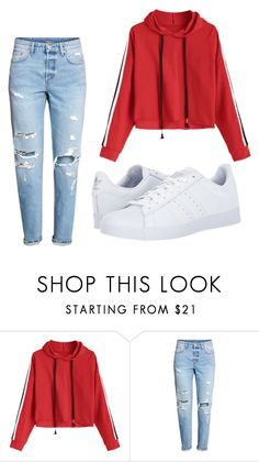 """""""day"""" by juliadb on Polyvore featuring adidas"""