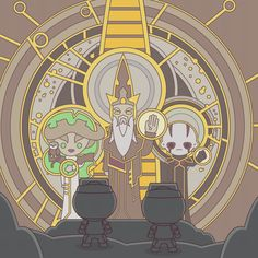 """The """"gods"""" of Mortis point the way to a """"world between worlds"""" in 100 Soft's latest work of Star Wars Rebels art."""