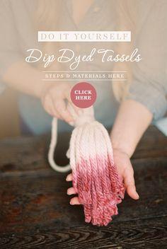 DIY dip dyed tassels @weddingchicks