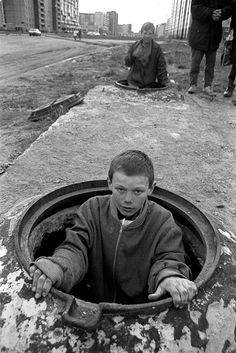 kids sleep on top of the hot water pipes under the street on the401 x 600 | 159 KB | www.paulcmiller.com  The poor are really poor...we affluent and comfortable have to conception.  We only conceive of the lazy who whine 'poor.'  K.W.