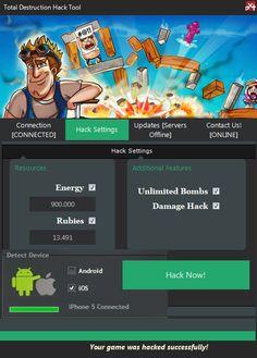Total Destruction Triche Android Hacks, Destruction, Iphone