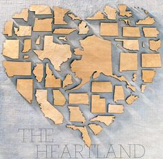 The Heartland - A heart made from lasercut shapes of the states - Martha Stewart Magazine