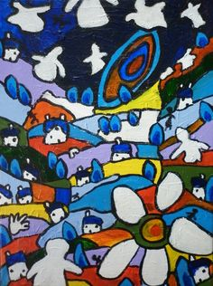 £115. I paint by instinct and feel my way to deliver a balance of color and space influenced by my love of early 20th Century art.