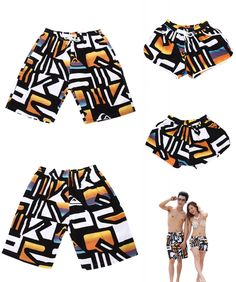[Visit to Buy] Wholesale Couples Surfing Shorts Women and Men Summer Beach Shorts Couple Surf Swimsuit Sport Wear  Tracksuit Quick Dry #Advertisement