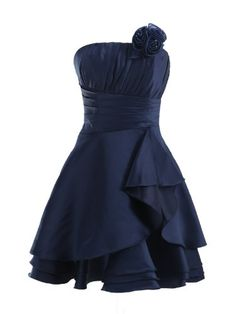 Landybridal 2013 Cute A Line Strapless Knee Length Satin Party Prom Dress with Detachable Flower E22659 M(US2-US8) Dark Navy Landybridal,http://www.amazon.com/dp/B00B1OT2EO/ref=cm_sw_r_pi_dp_9110rb1HHGKXSS1C