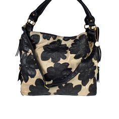 Little Black Bag | Nude/Black Thalia Floral Tote by Big Buddha: for my mom :)