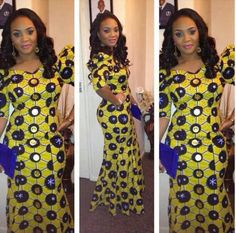 Nigerian Dresses - Long Gwon Ankara Design - DeZango Fashion Zone