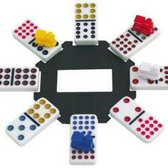 Mexican Train is a popular domino variant that doesn't require lots of complicated twists and turns, unlike regular dominoes. One domino goes in the center, and everyone plays dominoes off the . Family Fun Games, Love Games, Diy Games, Family Game Night, Games For Kids, Crazy Games, Group Games, Summer Camp Games, Camping Games