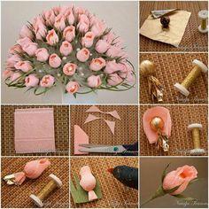 Buque de rosas com docinhos dentro ^^