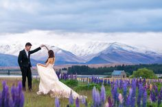 Majestic snow-capped mountains // Boon and Sherilyn's Engagement in Untouched New Zealand