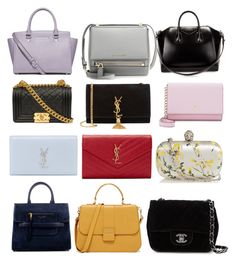 """""""My favorite Bags """" by feliciy15 on Polyvore featuring MICHAEL Michael Kors, Marc Jacobs, Yves Saint Laurent, Givenchy, Kate Spade, Alexander McQueen and Chanel"""