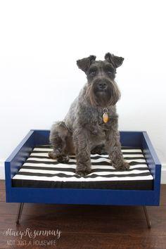 mid century modern dog bed tutorial