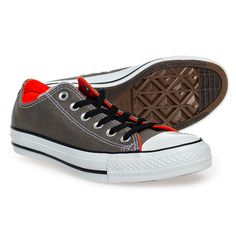Converse All Star Double Tongue Shoes (Charcoal/Peach)