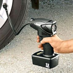 AirPro Cordless Air Compressor - way better than stopping at the gas station! Cordless Air Compressor, Portable Air Compressor, Makita, Tools, Cool Stuff, Air Compressors, Garage Ideas, Gas Station, Clever