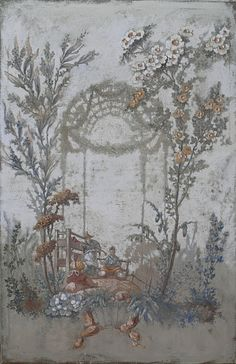 The taste for designs and ornaments inspired by Chinese models started up in Europe in the XVIIth century, in England and the Netherlands fi. Chinoiserie Wallpaper, Chinoiserie Chic, Grey Home Decor, European Home Decor, Decoration, Art Decor, Devine Design, Grisaille, Color Harmony