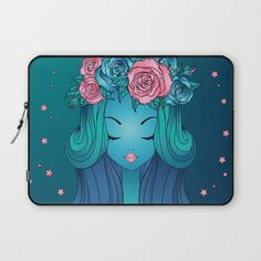 Night Dream Laptop Sleeve by Salome | Society6