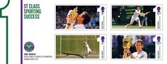 Royal Mail will issue these stamps marking Andy Murray's Wimbledon victory on 8 August.