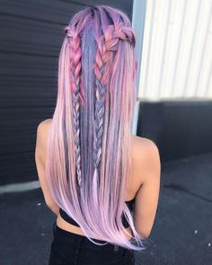 Trendy Hair Color Crazy Pastel Braids 23 Ideas - Most stylish hairstyles Cute Hair Colors, Beautiful Hair Color, Hair Dye Colors, Cool Hair Color, Summer Hair Colour, Loose Hairstyles, Pretty Hairstyles, Braided Hairstyles, Hairstyle Ideas