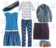 blues from jcrew {all sale items are an additional 30% off}