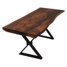 Create memorable meal times with family and friends with Clifton Handcrafted Industrial Live Edge Single Slab Dining Table. The live edge. Live Edge Wood, Live Edge Table, Beach House Kitchens, Industrial Dining, Wood Patterns, Solid Wood, Meal Times, Dining Room, Dining Tables