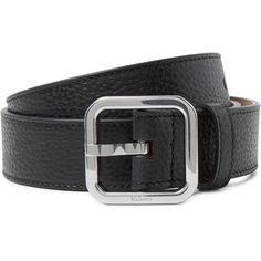 Mulberry 3cm Black Full-Grain Leather Belt (€185) ❤ liked on Polyvore featuring men's fashion, men's accessories, men's belts, mens genuine leather belts, mens leather accessories, mens real leather belts and mens leather belts