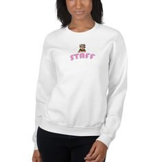 A new sweatshirt for Yorkshire Terrier lover and parent from our collection, Yorkie Staff, with print paws design on the left sleeve. Rr Logo, Dodgers Shirts, Crew Neck Sweatshirt, Pullover, Donia, Muscle Shirts, Family Shirts, Rib Knit, Long Sleeve Shirts