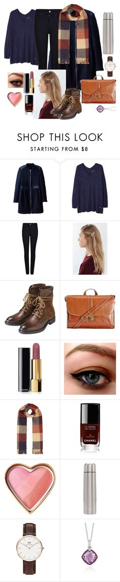 """Ootd #28"" by luludedid on Polyvore featuring MANGO, Giorgio Armani, GANT, Patricia Nash, Chanel, Daniel Wellington and Phillip Gavriel"