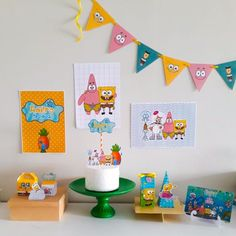 Spongebob Birthday Party, 30th Birthday, Nana Banana, Construction Birthday Parties, Party Decoration, Baby Party, Origami, Diy And Crafts, My Favorite Things