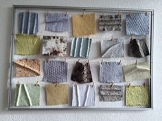 Paper laundry. Lilian made this at her home after the workshop. Lovely.