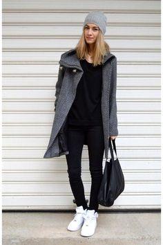 Grey Coat - wadulifashions.blogspot.com