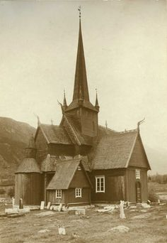 DigitaltMuseum - Kirke, Lom kirke, Lom, Oppland.