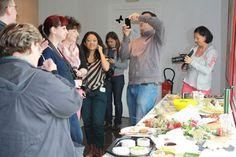 Déjeuner - Voyage blogueurs Roquefort Papillon 2013