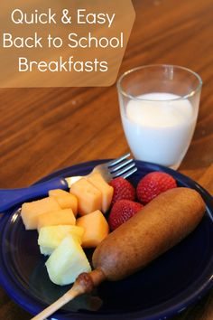 Quick & Easy Back to School Breakfasts #fuelforschool AD
