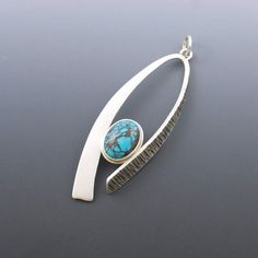 Antiqued Silver Aluminum Mid Century Style Round Pendant 50mm From India