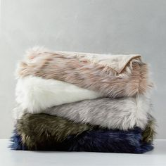 Mink Faux Fur Throws