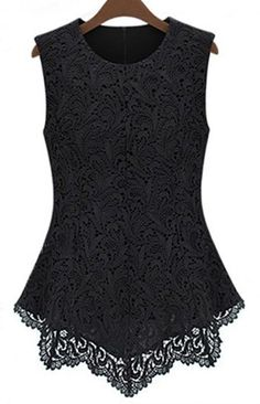 I am digging lace, and the flare at the waist and over the hip is definitely something I dig right now.