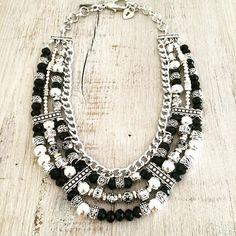 New Version Collar Ocean en Negro y Cristal #mortal Lo vas a querer tener sí o si #mundoLQD Próximamente en la Tienda Online Mayoristas: info@laquedivas.com.ar #bohemian #winter #fashion #lovers #universolaquedivas