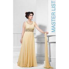 Stylish Cream Gown