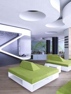 green white nat. restaurant interior