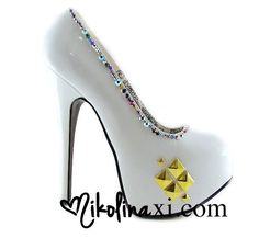50 OFF SALE White Patent Leather  Pumps with by NikolinaMarie, $88.00