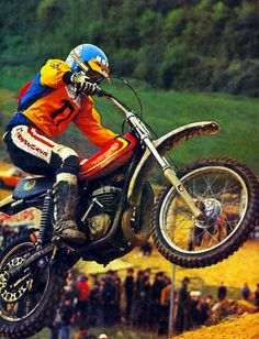 2 Stroke Dirt Bike, Motos Trial, Valentino Rossi 46, Triumph Tiger, Off Road Racing, Vintage Motocross, Dirtbikes, Motorbikes, Cubs