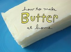 """""""How to make butter at home"""" graphic, on Craftsy"""