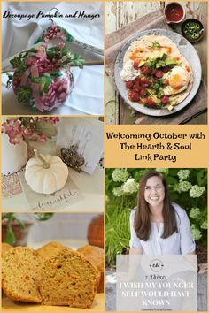 Welcoming October at the Hearth and Soul Link Party where we invite you to share blog posts about anything that feeds the soul