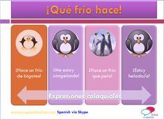 A2. ¿Sabes qué dicen los españoles cuando hace frío? Aquí tienes algunas de ellas.